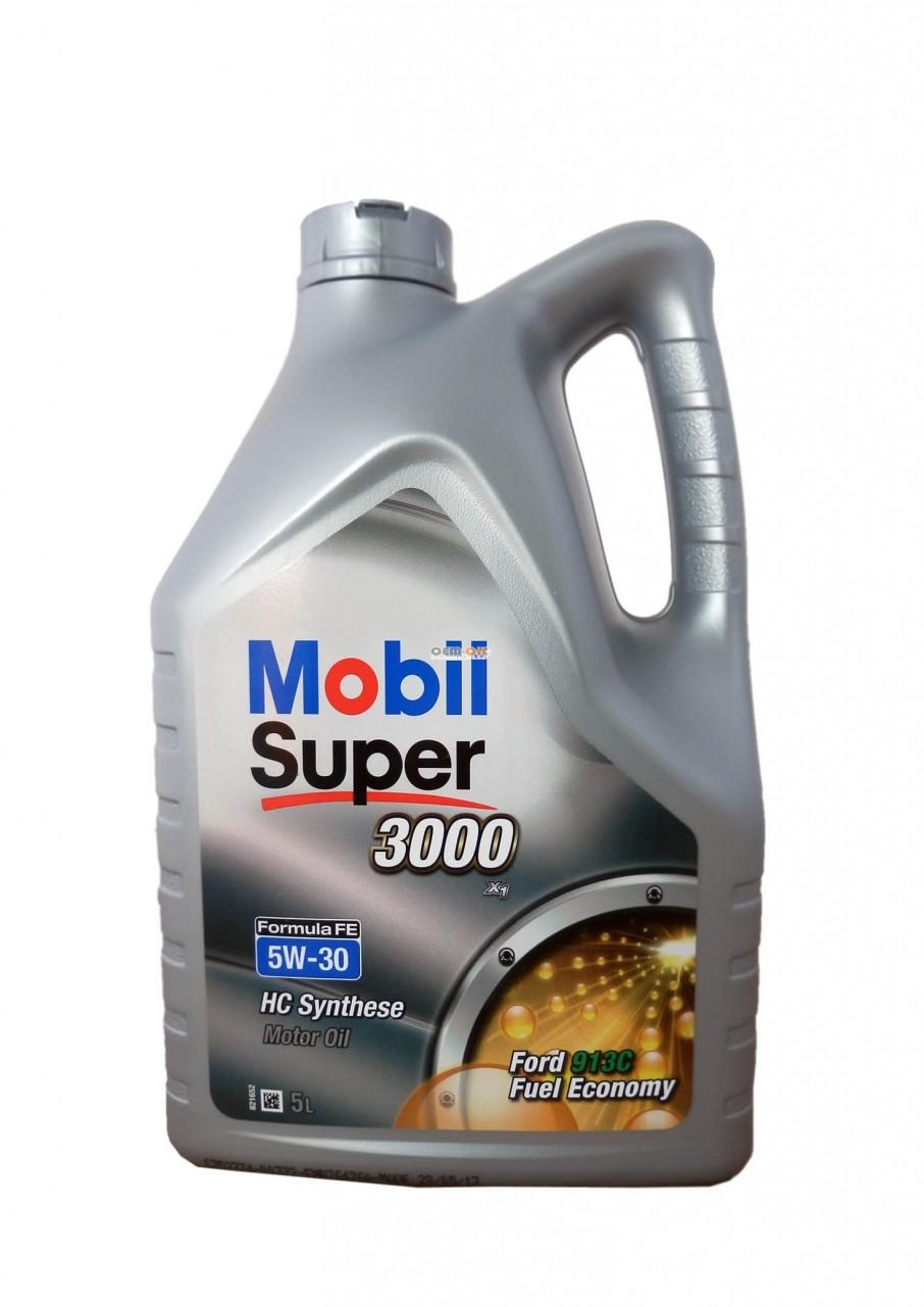 Fabriksnye Mobil Super 3000 Formula FE 5W30 5 Liter - De Olie Concurrent OB-74