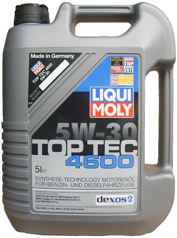 liqui moly top tec 4600 5w 30 dexos2 5 liter de olie. Black Bedroom Furniture Sets. Home Design Ideas